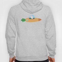 Space bunny and its carrot rocket Hoody
