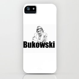 Charles Bukowski Drawing iPhone Case