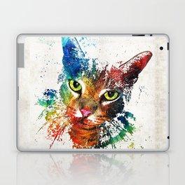 Colorful Cat Art by Sharon Cummings Laptop & iPad Skin