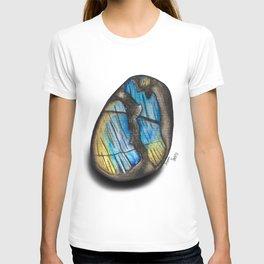 Illuminated Structure: Solo Blue & Gold Labradorite T-shirt