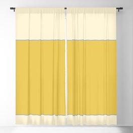 Warm Sunlight Color Block Blackout Curtain