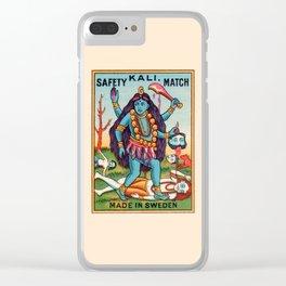 Kali Hindu Goddess Devi Shakti Matches Vintage Graphic Clear iPhone Case