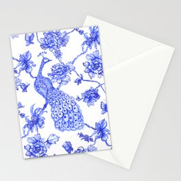 Chinoiserie Peacock Stationery Cards