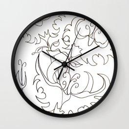 Jagged Little Flower Wall Clock