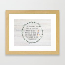 Moms Love w/Weathered wood background Framed Art Print