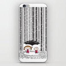 Raining numbers barcode iPhone & iPod Skin