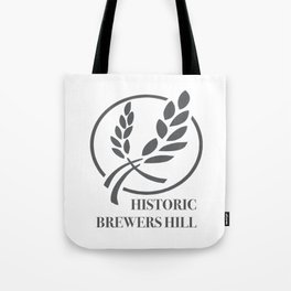 Brewers Hill Sign Black Tote Bag