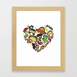 Love Cinco De Mayo Mexican Party Costume Framed Art Print