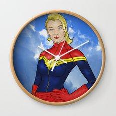 Carol Danvers Wall Clock