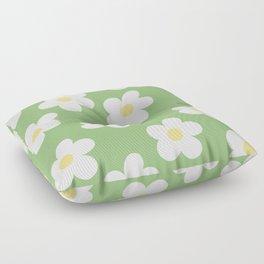Retro 60's Flower Power Print 2 Floor Pillow