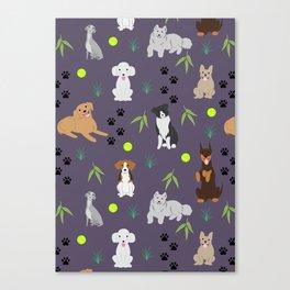 Happy Puppies Canvas Print