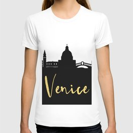 VENICE ITALY DESIGNER SILHOUETTE SKYLINE ART T-shirt