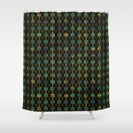 Endless Knot Pattern - Gold and Marble Shower Curtain