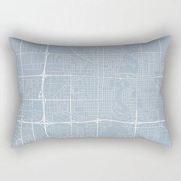 Fargo Map, USA - Slate Rectangular Pillow