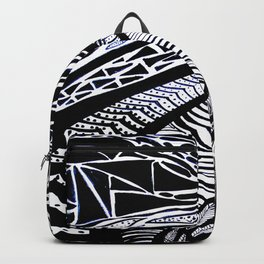Gaia's Garden in Black & White 3 Backpack