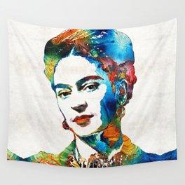 Frida Kahlo Art - Viva La Frida - By Sharon Cummings Wall Tapestry