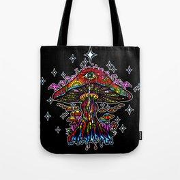 Psychedelic Eye Mushroom Tote Bag