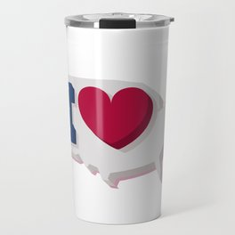 Happy 4th of July! Happy Independence Day!I love USA! Travel Mug