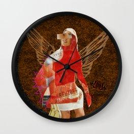 Build a Woman - Cut and Glue · Flying Farb Ina · Dark Version Wall Clock