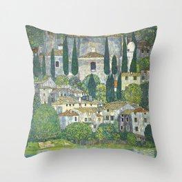 Village - Gustav Klimt Throw Pillow