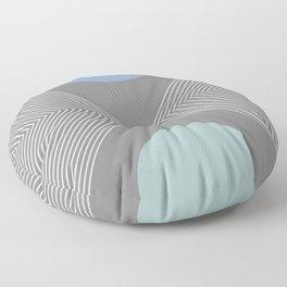 Earth And Moon - Mid-Century Minimalist Floor Pillow