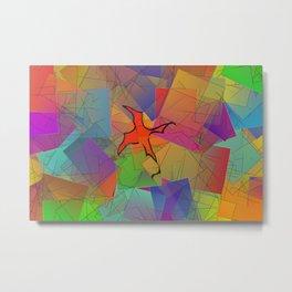 2506 Little cubistic phoenix ... Metal Print