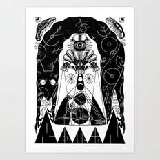ANCIENT ASTRONAUT Art Print