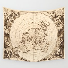 World Map circa 1713 (Planisphere terrestre) Wall Tapestry