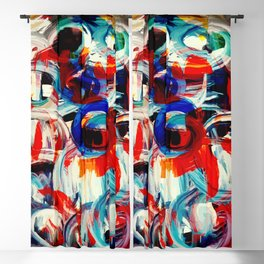 Abstract Action American Painting Blackout Curtain
