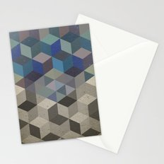 Dimension in blue Stationery Cards