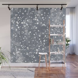 baby blue bambi dots Wall Mural