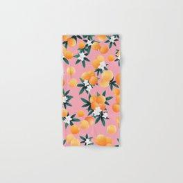 Orange Twist Flower Vibes #4 #tropical #fruit #decor #art #society6 Hand & Bath Towel