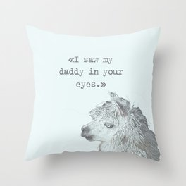 Daddy Lama Throw Pillow