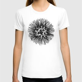 Make A Wish Dandelion Vector In Black T-shirt