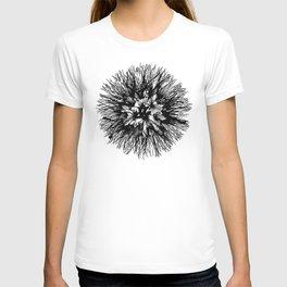 Make A Wish Dandelion Vector In Black T-shirt