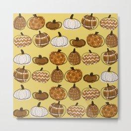 Pumpkin Party in Honey Metal Print