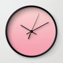 Ombré Millennial Pink Rose Quartz Rose Gold Pink Dogwood Wall Clock