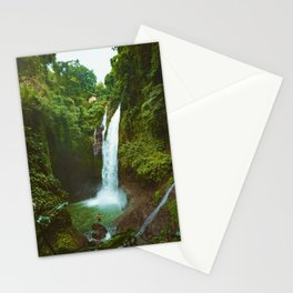 The Valley's Waterfall (Color) Stationery Cards