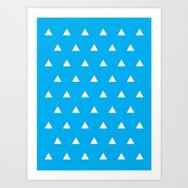 Cyan Triangles Art Print