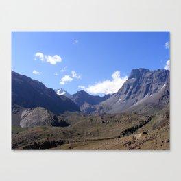 En La Cordillera de  Los Andes Canvas Print