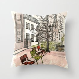 In Brussels Throw Pillow