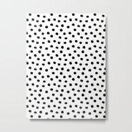 Black Polka Dots I Metal Print