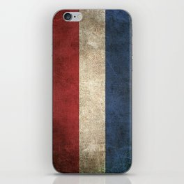 Old and Worn Distressed Vintage Flag of The Netherlands iPhone Skin