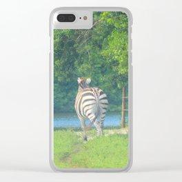 Zebra Dreams Clear iPhone Case