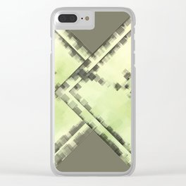 OLIVE SQUARE PATTERN Clear iPhone Case