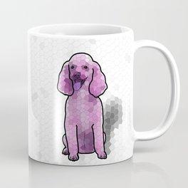 Poodle in Amethyst Mosaic Coffee Mug
