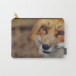 wild fox close up Carry-All Pouch