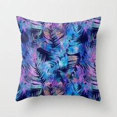 Waikiki Tropic {Blue} Throw Pillow