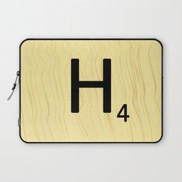 Scrabble H Decor, Scrabble Art, Large Scrabble Prints, Word Art, Accessories, Apparel, Home Decor Laptop Sleeve