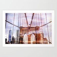 Brooklyn Bridge Art Art Print